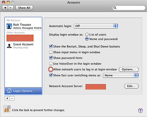 Fixing network user login problems on a Mac correctly bound to an AD
