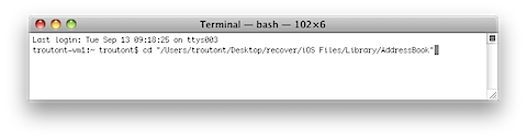 Recover iPhone Contacts from iTunes Backup on a Mac (6/6)