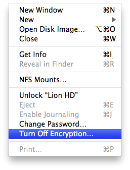 Using Disk Utility to unlock or decrypt your FileVault 2-encrypted boot drive (2/3)