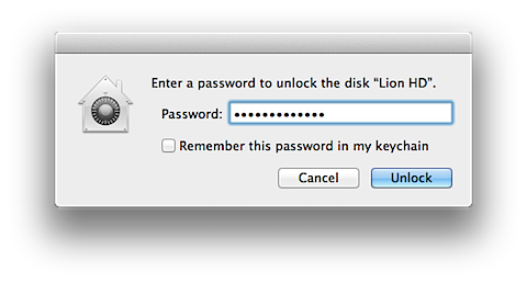 Using Disk Utility to unlock or decrypt your FileVault 2