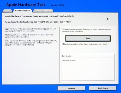 Apple Service Diagnostics, Apple Hardware Test, and Mac Test Pro 2001 – 2010