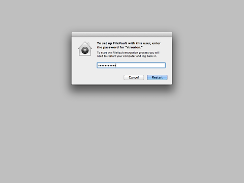 Using fdesetup with Mountain Lion's FileVault 2  (6/6)