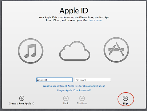 How to avoid associating your Apple ID with your Mac's account in Mountain Lion (3/6)