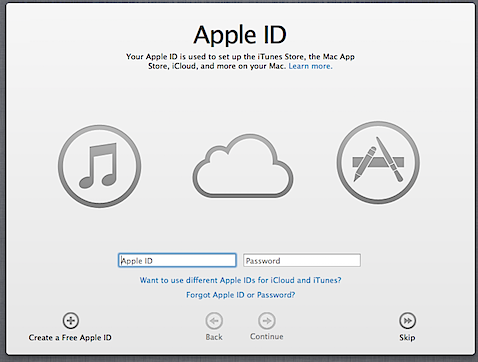 How to avoid associating your Apple ID with your Mac's account in Mountain Lion (2/6)