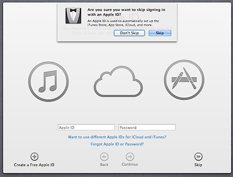 How to avoid associating your Apple ID with your Mac's account in Mountain Lion (4/6)