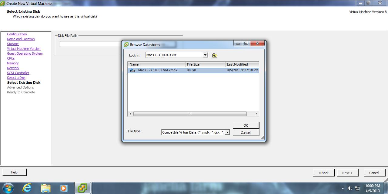 Migrating OS X VMs to a VMware ESXi server | Der Flounder