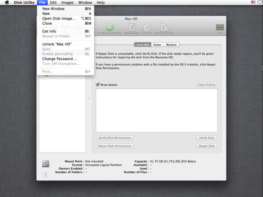 Mac OS X 10 8 4's Recovery HD removes ability to decrypt