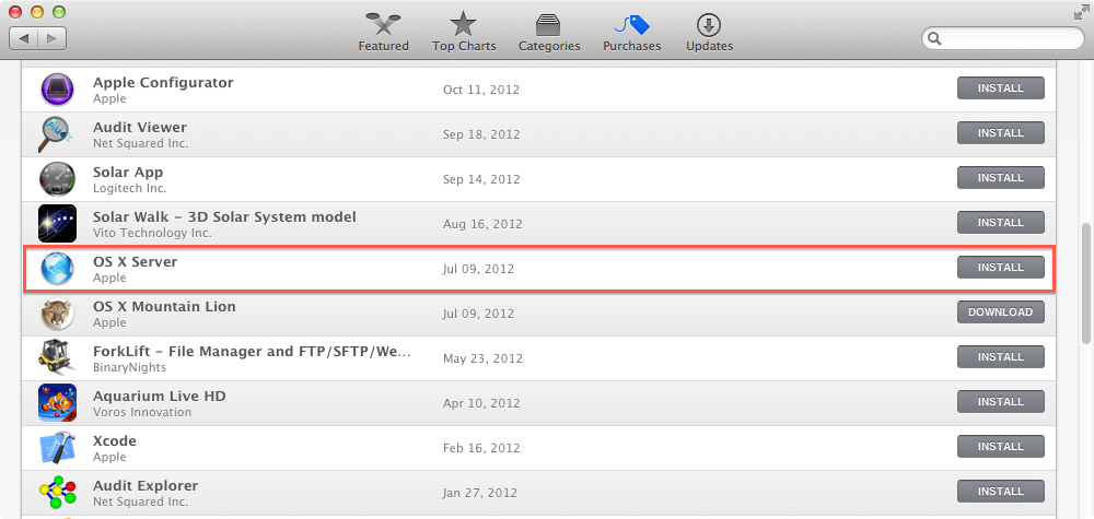 Downloading Apple's Server app installer package | Der Flounder