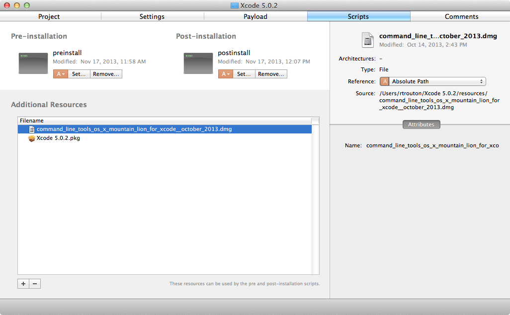 Building a Grand Unified Xcode 5 0 2 installer for Mavericks