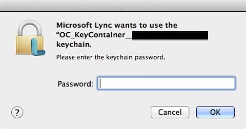 microsoft keychain password