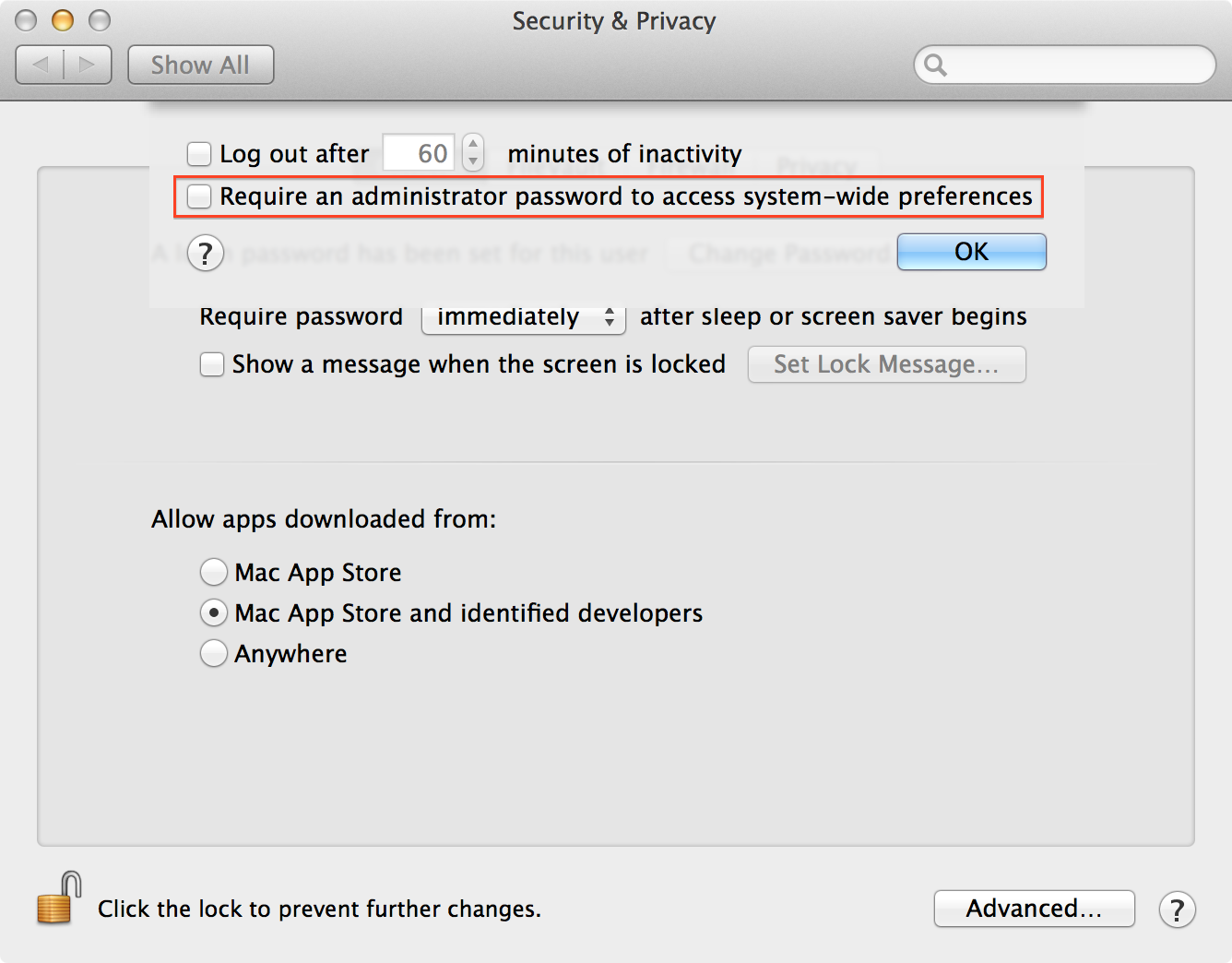 Managing the Authorization Database in OS X Mavericks | Der