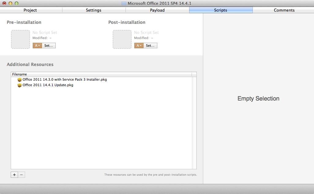 Creating an Office 2011 SP 4 14.4.1 installer | Der Flounder