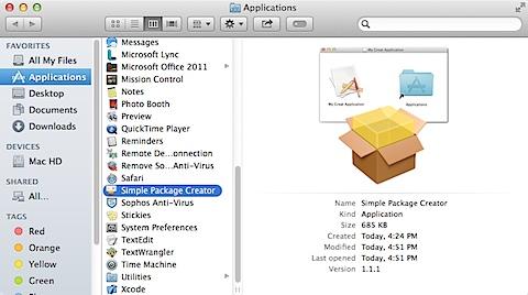 Simple Package Creator.app (2/6)