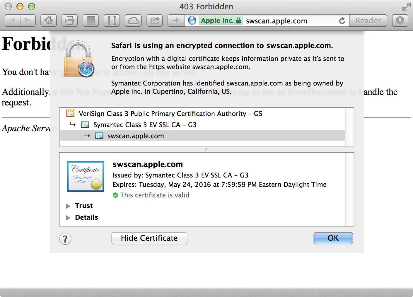 Apple Software Update Service Errors Due To Expired Ssl Certificate