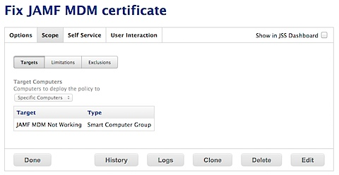 Automatically fixing MDM certificate enrollment with Casper 9.x (5/5)