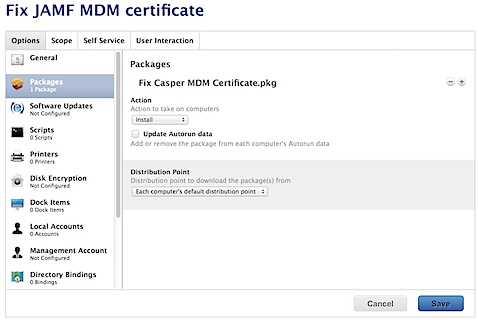 Automatically fixing MDM certificate enrollment with Casper 9.x (4/5)