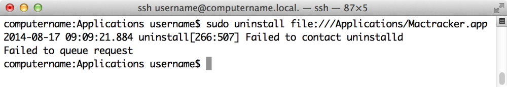 Uninstalling App Store apps from the command line (4/6)