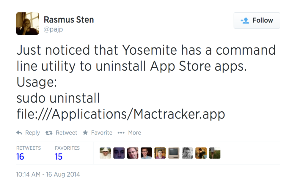 Uninstalling App Store apps from the command line (1/6)