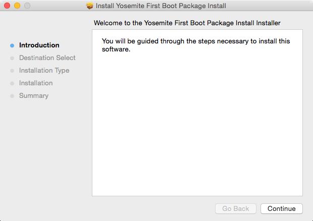 First Boot Package Install Generator app | Der Flounder