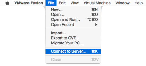 Figure_1-Using_VMware_Fusion_Professionals_Connect_to Server_function