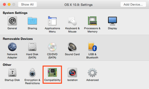 Figure_25–Accessing_Compatibility_settings_on_a_Fusion_hosted_VM