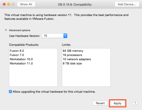 Figure_27–Confirming_the_change_of_the_VMware_hardware_version_in_the_Compatibility_settings