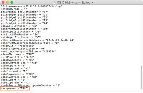Figure_31–Editing_a_vmx_configuration_file_in_VMware_Fusion_to_add_the_smc_present=TRUE_attribute