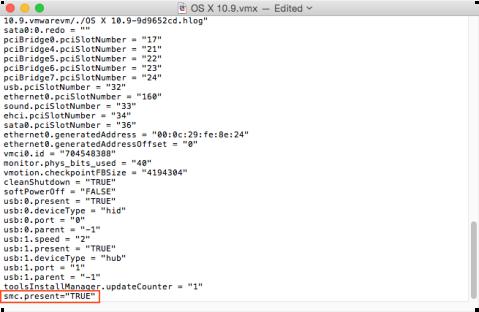 Figure_31–Editing_a_vmx_configuration_file_in_VMware_Fusion_to_add_the_smc_present=TRUE_attribute