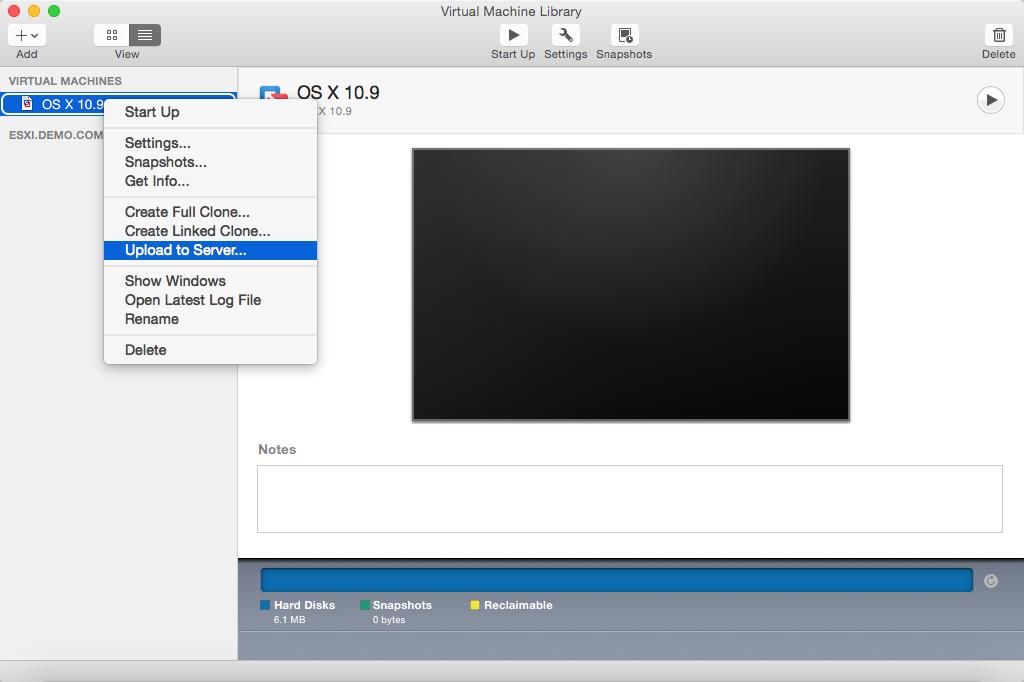 Managing ESXi-hosted virtual machines using VMware Fusion