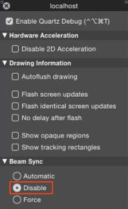 QuartzDebug_beam_sync_off_Yosemite