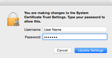 Adding a self-signed Casper Root CA as a trusted root | Der