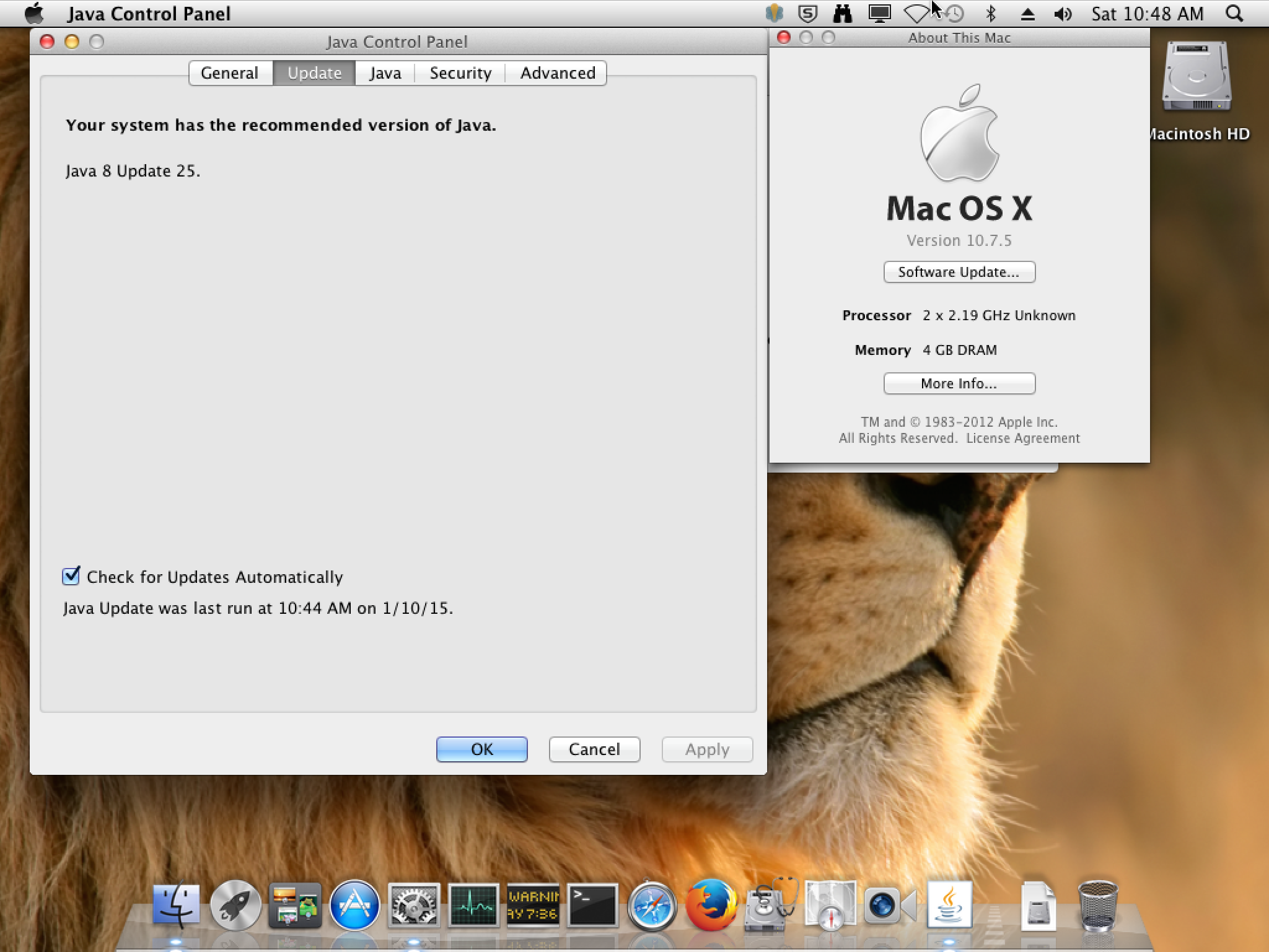 java 7 mac os x lion