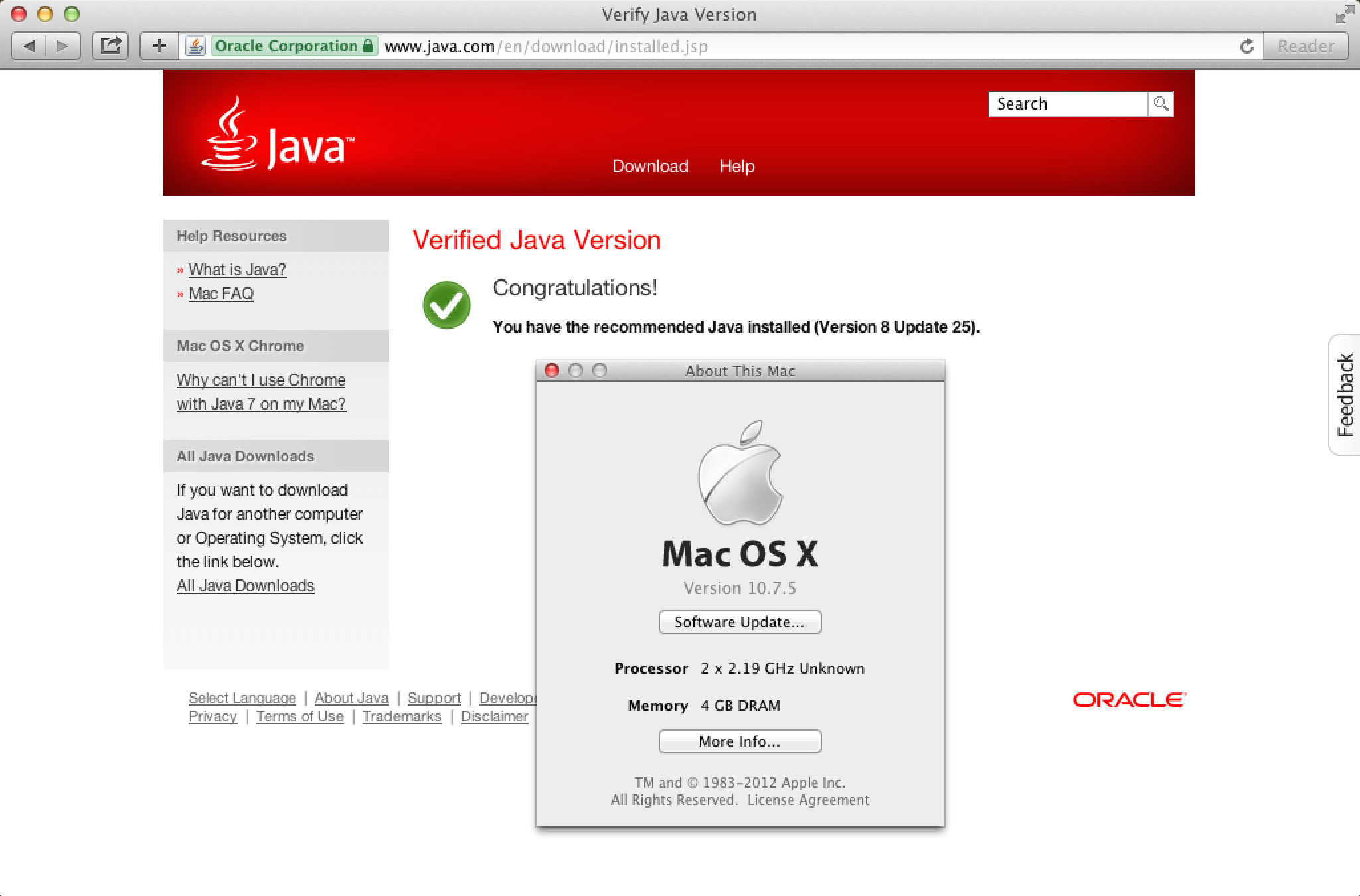 Oracle's Java 8 and Mac OS X 10 7 x | Der Flounder