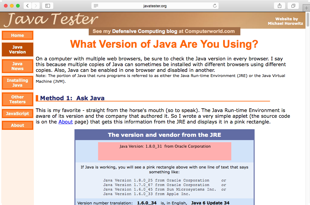 Oracle's Java 8 Update 31 has been updated to …  Java 8 Update 31