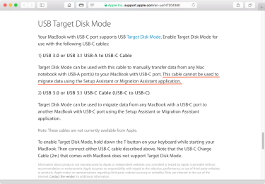 USB-A to USB-C connections via USB Target Mode not usable by Setup