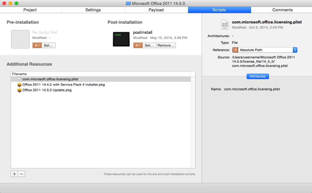 Creating an Office 2011 14 5 0 installer | Der Flounder