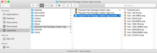 Xcode icon set