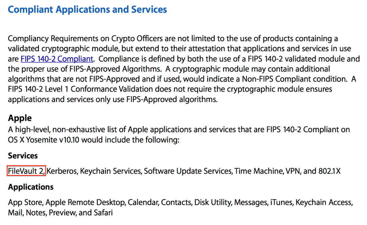 Filevault 2 on yosemite is now fips 140 2 compliant der flounder 1betcityfo Image collections