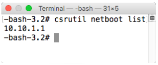 Csrutil netboot list run inside recovery