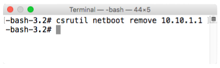 Csrutil netboot remove run inside recovery