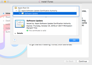 Sip disabling apple installer certificate