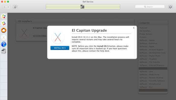 Providing OS X Upgrades via Casper's Self Service   Der Flounder