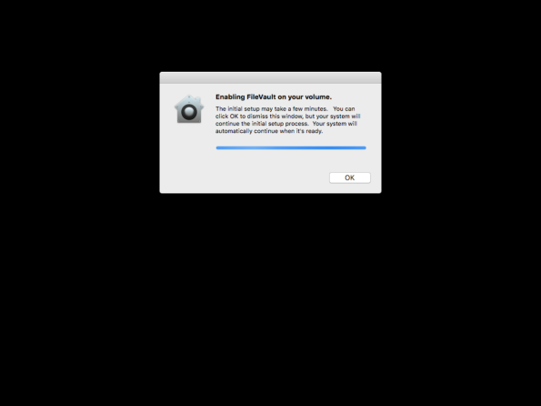 Figure 9 FileVault 2 deferred enabling process