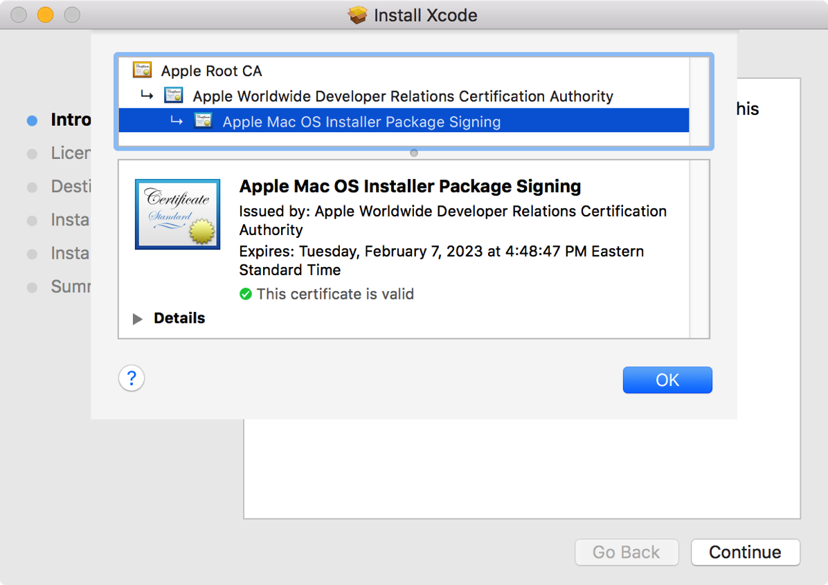 Certificate Expiration And Downloaded Mac App Store Installers Der