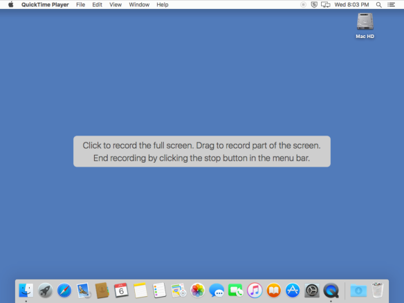 Creating a screen recording of a second display with Apple's