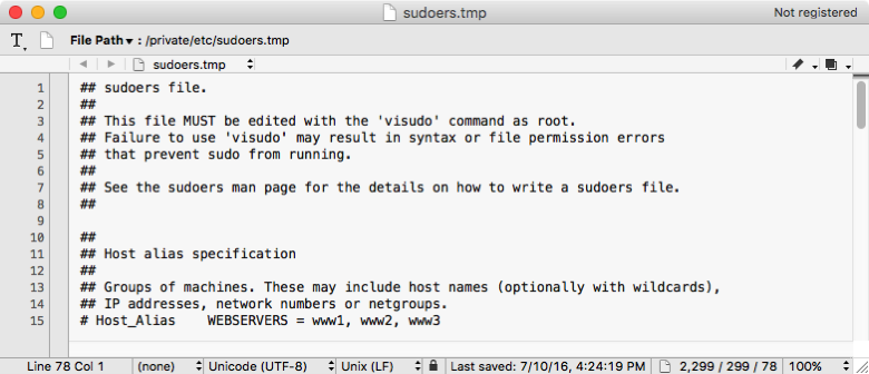 'username' is not in the sudoers file