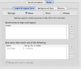 Portable Sync Rules