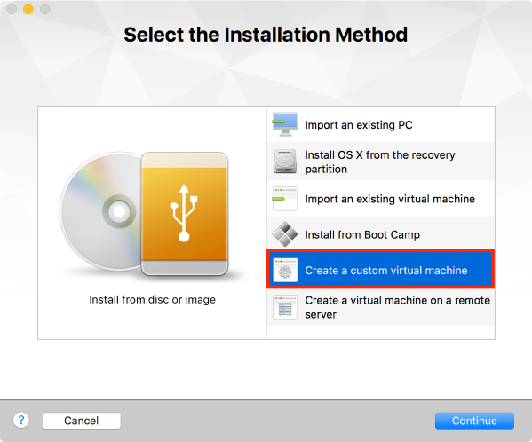 Create custom virtual machine