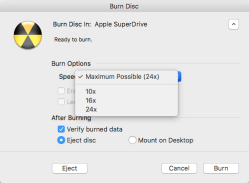 Burning disk images to optical media in macOS Sierra | Der