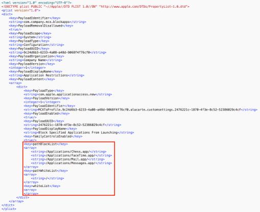 Application blacklisting using management profiles | Der